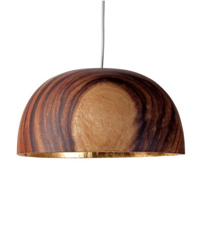 Lamp Aca Kelk Breed 15x30cm Naturel/Goudblad