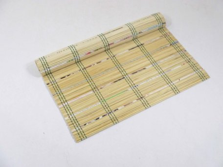 Placemat Bamboe/Recyled Papier Natural