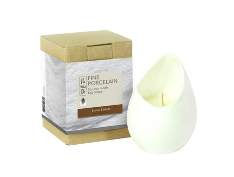 Candle Fine Porcelain Egg Exotic Embers (Eo)